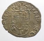 reverse: Maria Gonzaga per Carlo II 1637-1647. Soldo con il reliquiario