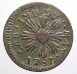 reverse: Zecche Italiane - Mantova. Carlo VI d Asburgo (1707-1740). Soldo 1731