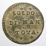 obverse: Zecche Italiane - Mantova. Carlo VI d Asburgo (1707-1740). Soldo 1736