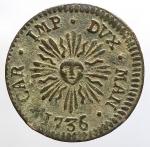 reverse: Zecche Italiane - Mantova. Carlo VI d Asburgo (1707-1740). Soldo 1736