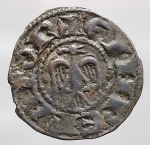 reverse: Enrico VI di Svevia (1194-1197). Denaro, del 1196