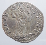 obverse: Milano. CARLO V D'ASBURGO (1535-1556) - Denaro da 8 soldi s.d. Ag.