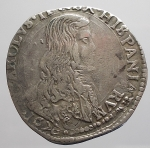 obverse: Zecche Italiane - MILANO. CARLO II DI SPAGNA (1676-1700) Quarto di Filippo 1676