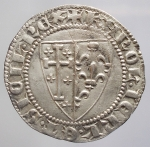 reverse:  Zecche Italiane - Napoli. Carlo I d Angiò (1266-1285). Saluto d argento