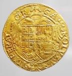 obverse: Zecche Italiane - Napoli. Carlo V 1519-1558. Scudo in Au.