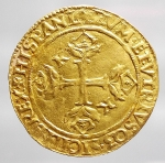 reverse: Zecche Italiane - Napoli. Carlo V 1519-1558. Scudo in Au.