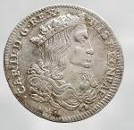 obverse: Zecche Italiane - NAPOLI. Carlo II. Tarì da XX grana di 2° tipo. 1697 Ag