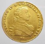 obverse: Zecche Italiane - Napoli. Ferdinando IV (1759-1799). 6 Ducati 1763