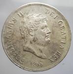 obverse:  Zecche Italiane - Napoli. Ferdinando II di Borbone (1830-1859). 120 grana o piastra 1855