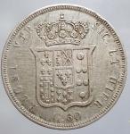 reverse: Ferdinando II di Borbone (1830-1859). 60 grana o 1/2 piastra 1855