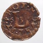obverse: Zecche Italiane - Novellara. Alfonso II Gonzaga (1644-1678). Quattrino 1663