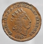 obverse: PALERMO. Ferdinando III. 2 Grani 1815 -