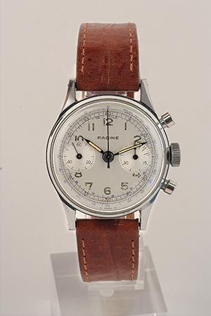 obverse image: RACINE, chronograph, around 1960.
