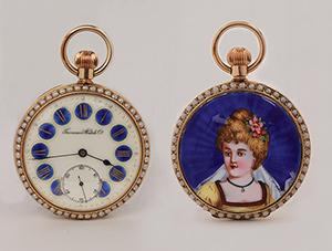 obverse image: TAVANNES WATCH, around 1880. Pocket watch.