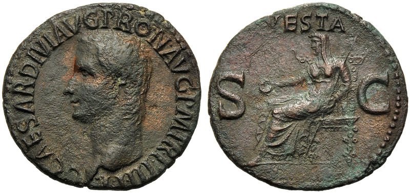 ACR Asta16: 473 - Caligula (37-41), As, Roma, 39-40 d C