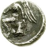 reverse:  Bruttium, Terina   Sesto di nomos, 345-300 a.C.