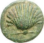 obverse:  Calabria, Graxa   AE 15 mm. prima del 200 a.C.