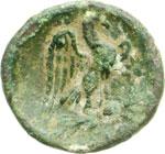 reverse:  Calabria, Graxa   AE 15 mm. prima del 200 a.C.