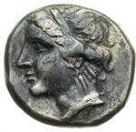 obverse:  Calabria, Taranto   Didracma campano-tarantina, 281-228 a.C.