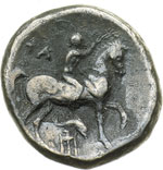 reverse:  Calabria, Taranto   Didracma campano-tarantina, 281-228 a.C.