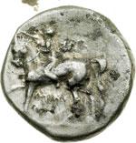 obverse:  Calabria, Taranto   Didracma, 272-235 a.C. Prima alleanza con Roma.