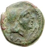 obverse:  Calabria, Uxentum   Semisse, II secolo a.C.