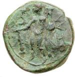 reverse:  Calabria, Uxentum   Semisse, II secolo a.C.