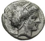 obverse:  Campania, Neapolis   Didracma, 325-241 a.C.