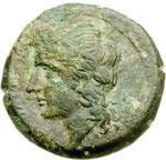 obverse:  Campania, Neapolis   AE Litra, ca. 275-250 a.C.