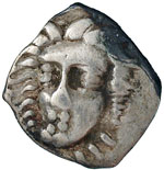 obverse:  Campania, Phistelia   Obolo, 310-300 a.C.