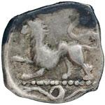 reverse:  Campania, Phistelia   Obolo, 310-300 a.C.