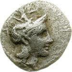 obverse:  Lucania, Heraclea    Diobolo, 370-281 a.C.