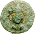obverse:  Lucania, Laus   AE 14 mm. V secolo a.C.