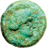 obverse:  Lucania, Laus   AE 20 mm. V secolo a.C.