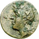 obverse:  Lucania, Metapontum   AE 16 mm. 350-300 a.C.