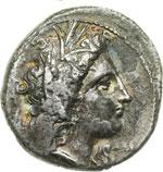 obverse:  Lucania, Metapontum   Nomos, 330-300 a.C.