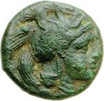 obverse:  Lucania, Thurium   AE 17 mm. 400-375 a.C.