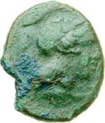 obverse:  Lucania, Thurium   AE 19 mm. IV secolo a.C.