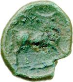reverse:  Lucania, Thurium   AE 19 mm. IV secolo a.C.