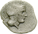 obverse:  Lucania, Thurium   Obolo (?), ca. 350-300 a.C.