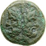 obverse:  Lucania, Thurium - Copia   Asse, 193-89 a.C.