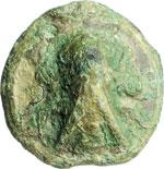 obverse:  Umbria, Tuder   Sestante, ca. 235 a.C.