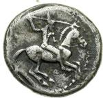 obverse:  Gela   Didracma, 490-475 a.C.