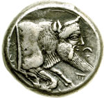 reverse:  Gela   Tetradracma, dopo il 405 a.C.