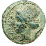 obverse:  Messana   AE 18 mm. 430-396 a.C.