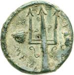 reverse:  Messana   AE 18 mm. 430-396 a.C.
