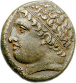 obverse:  Siracusa  Agatocle AE 21 mm. 295-289 a.C.