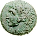 obverse:  Siracusa   AE 22 mm. 276-274 a.C.