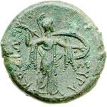 reverse:  Siracusa   AE 22 mm. 276-274 a.C.