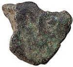 obverse:  Aes signatum Italia centrale, IV-III sec. a.C.. Frammento di quadrilatero?